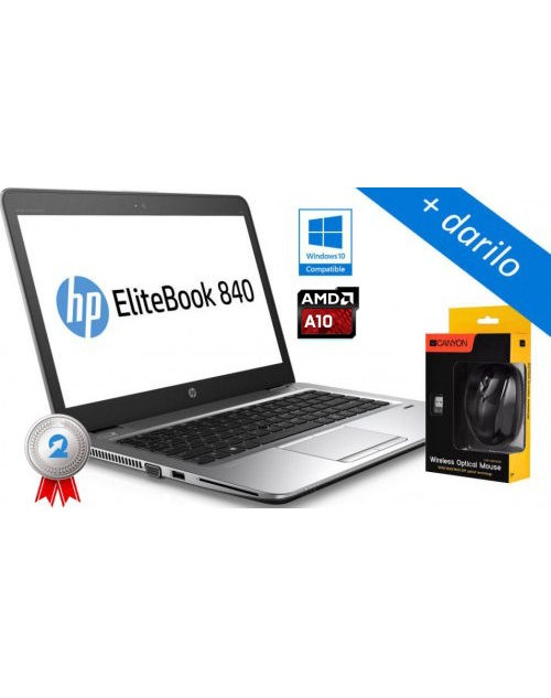 HP EliteBook 745 G4 AMD QuadCore Pro A10, SSD  + darilo